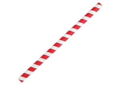 ProChef Pailles à smoothie en papier Fiesta Green rouges 21 cm | lot de 250