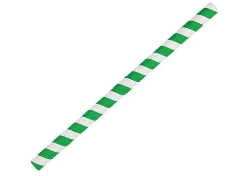 ProChef Pailles à smoothie en papier Fiesta Green vertes 21 cm