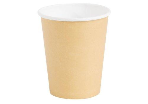 ProChef Gobelets jetables boissons chaudes Fiesta marron 225ml x1000