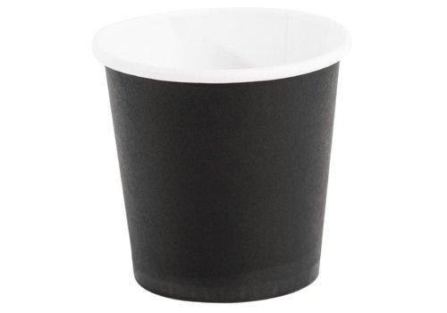 ProChef Gobelets jetables à café espresso Fiesta noirs 120ml x50