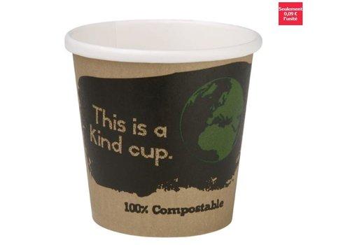 ProChef Gobelets espresso compostables en PLA simple paroi Fiesta Green 113ml (x50)