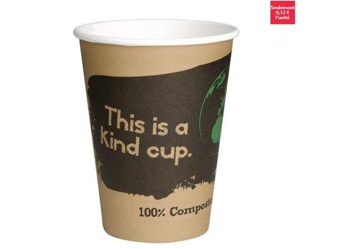 ProChef Gobelets boissons chaudes PLA simple paroi compostables 34 cl Fiesta Green (x50)