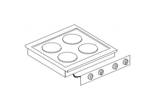 Combisteel Unité de Cuisson | Cuisinière Electrique 4 Plaques | 8,2 kW | 600x600x(H)260mm