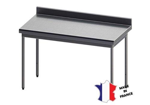 Sofinor Table démontable rayonnee   Inox   à dosseret   sur vérins inox