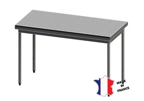 Sofinor Table démontable rayonnee   Inox   centrale   sur vérins inox