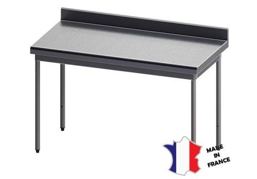 Sofinor Table démontable rayonnee   Inox   à dosseret   pieds ronds   sur vérins inox