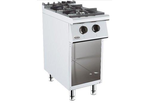 Combisteel Cuisiniere a gaz   2 bruleurs   base 700