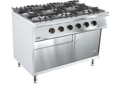 Combisteel Cuisiniere a gaz | 6  bruleurs | base 700