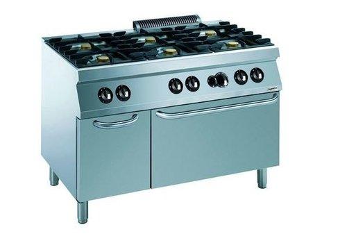 Combisteel Cuisiniere a gaz avec four a gaz | 6 bruleurs | base 700