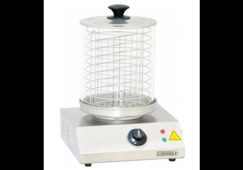 Casselin Chauffe-saucisses inox | 800W | Jusqu'à 100°C | 28x28(H)35,5cm