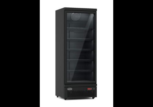Combisteel Réfrigérateur  1  Porte en Verre | Noir JDE-600R BL
