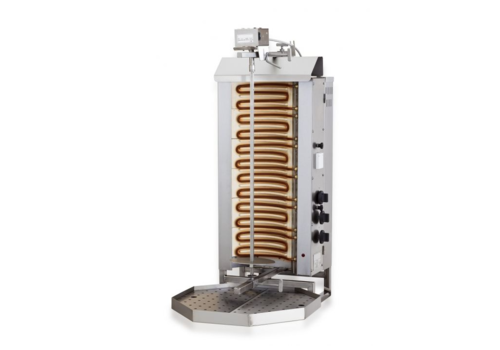 Combisteel Gyros grill électrique moteur au dessus | 6 zones de chauffage