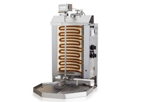 Combisteel Gyros grill electrique moteur au dessus | 4 zones de chauffage