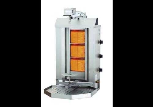 Combisteel Gyros grill à gaz | 3 zones de cuisson