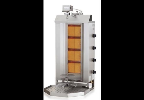 Combisteel Gyros grill à gaz | 4 zones de cuisson