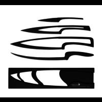 4 couteaux téflonnés avec support