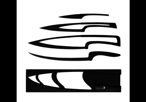 Deglon 4 couteaux téflonnés avec support