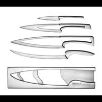4 couteaux | Avec un support en Inox