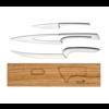 Deglon 3 couteaux avec un support en chene