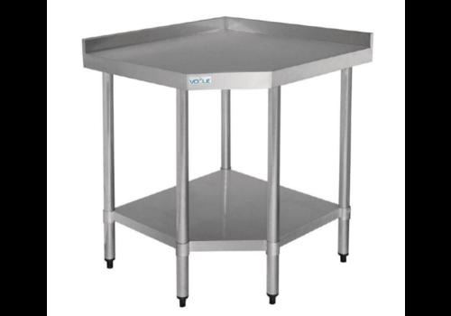 ProChef Table d'angle inox + etagère basse | 900x700x960(h)mm