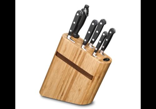 Deglon Compact block en bamboo   6 couteaux