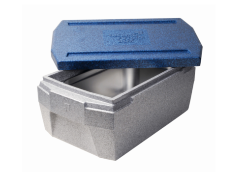 Thermo Future Box Thermobox GN 1/1 | deluxe 37 L | GRIS/BLEU