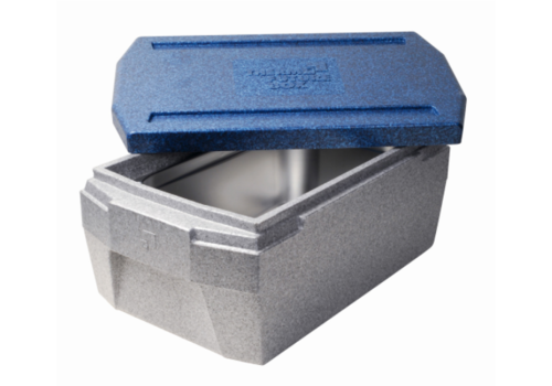 Thermo Future Box Thermobox GN 1/1 | deluxe | 45 L | GRIS/BLEU