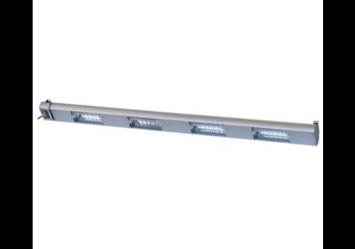 Roband Lampe Chauffante à Quartz | 4 Lampes Integrées/ 1400W | Dim. 1500mm | avec Intérrupteur