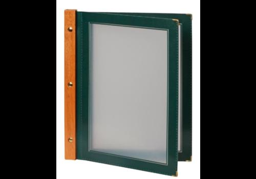 Securit Protège-menus en bois Securit vert A4