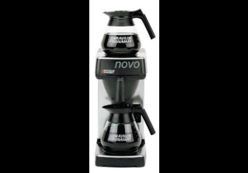 Bravilor Bonamat Cafetière Novo | 2 plaques chauffantes 2x 1,5 litres 430 (h) mm
