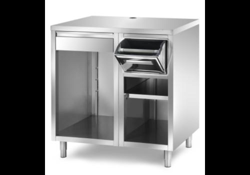 L2G Meuble de Bar Ouvert pour Machine à Café | P-700xH-1100mm | 2 ou 3 Modules