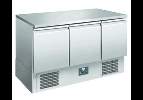 L2G Saladette en Inox | 1365x700x1075mm | 3 portes | +2/+8°C | R290