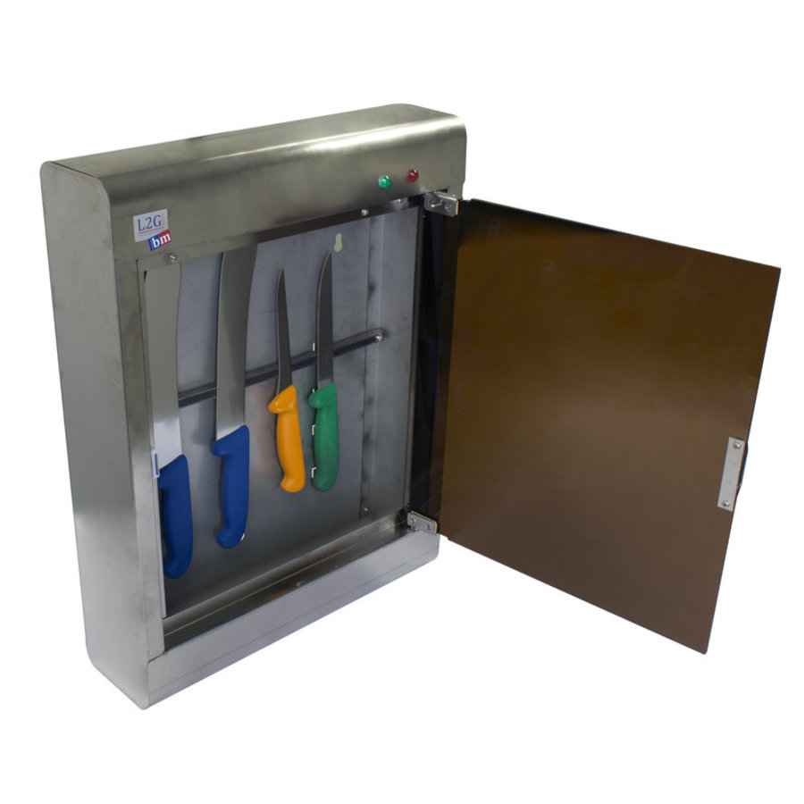 Armoire de Stérilisation en Inox | L-350xP-125xH-590mm | 10 Couteaux |