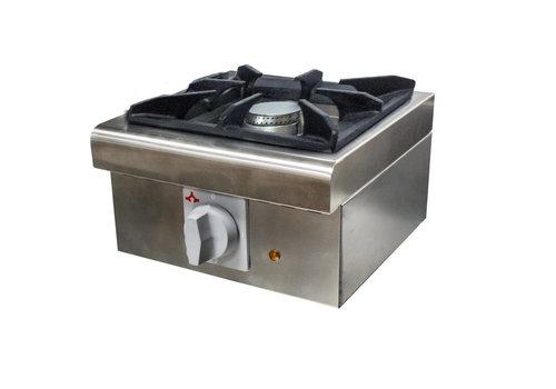 L2G Réchaud à Gaz en Inox | L-320xP-360xH-227mm | 1 Feu | 6 kW