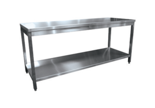 L2G Table Démontable Centrale en Inox | P-700xH-850mm | 1 Étagère |