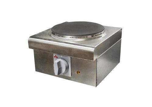 L2G Réchaud Électrique en Inox   L-300xP-305xH-200mm   1 Plaque   2 kW