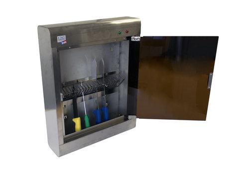 L2G Armoire de Stérilisation en Inox | L-440xP-125xH-590mm | 20 Couteaux | Support Panier