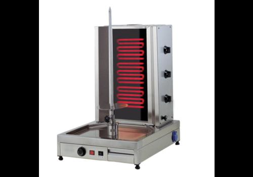 L2G Machine à Kebab Électrique | Inox | 530x780x650mm | 5,4 kW | 3 Zones de Chauffe