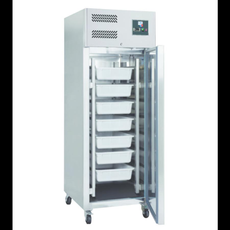 Armoire Réfrigérée à Poisson en Inox   680x810x2010mm  -5°C/+5°C  R600a