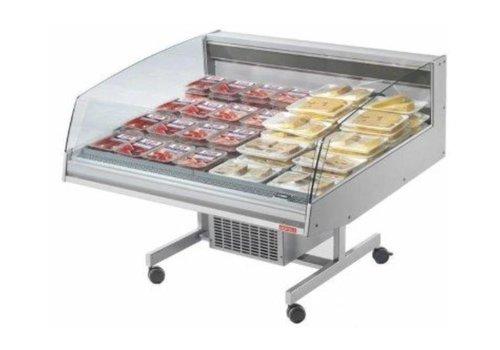 Oscartielle Vitrine Réfrigéré Supermarché | -1°/+7°C | 1288x1220x(H)1030mm