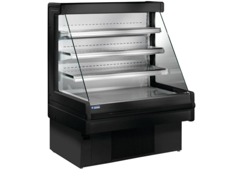 Diamond Meuble Réfrigéré | Libre Service | Noir | +4/+6°C | Etagères Réglables | Disponibles en 3 Largeurs | 1000x750x1290