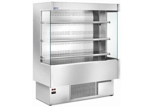 Diamond Meuble Réfrigéré 'Libre Service' INOX | 4 Etagères Réglables | +3/+6°C