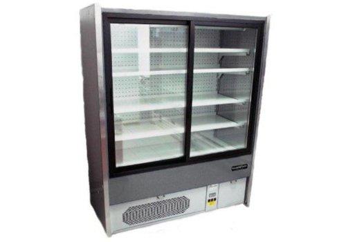 Combisteel Meuble Réfrigéré Gris | +1/+10°C | 4 Etagères | Disponibles en 3 Largeurs