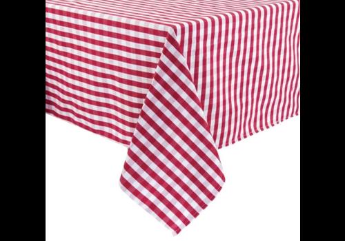 ProChef Nappe carrée à carreaux rouges en polyester   3 formats
