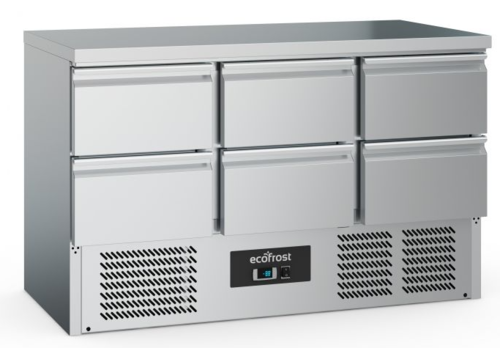 Ecofrost Comptoir réfrigéré | 6 tiroirs | gris