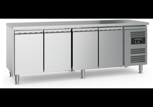 Ecofrost Table réfrigérée | 4 porte | Gris