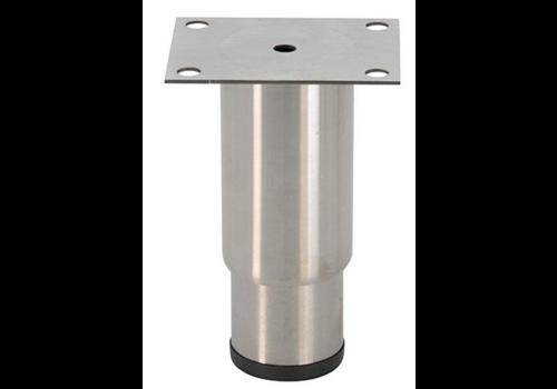 Pied réglable inox   H 145mm - 100x80mm