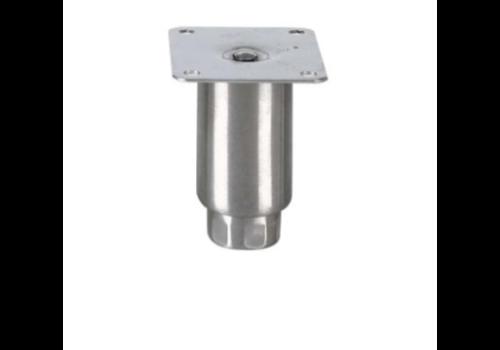 ProChef Pied réglable   H 100mm - M12   Ø Tube : 50 mm