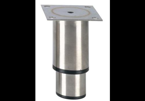 Pied réglable inox   145mmh   100x80mm