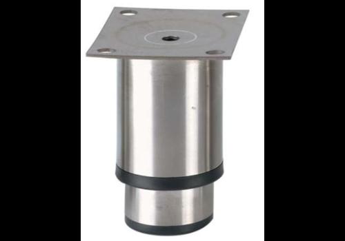 Pied reglable inox   90mmh   100x80mm